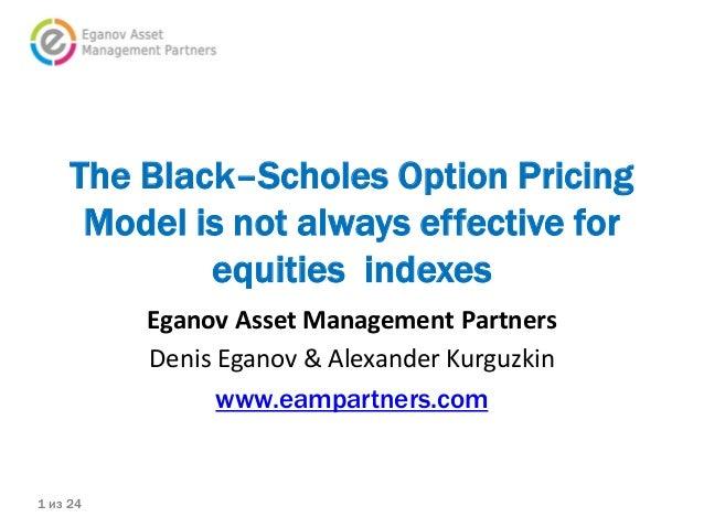 black scholes option pricing ppt
