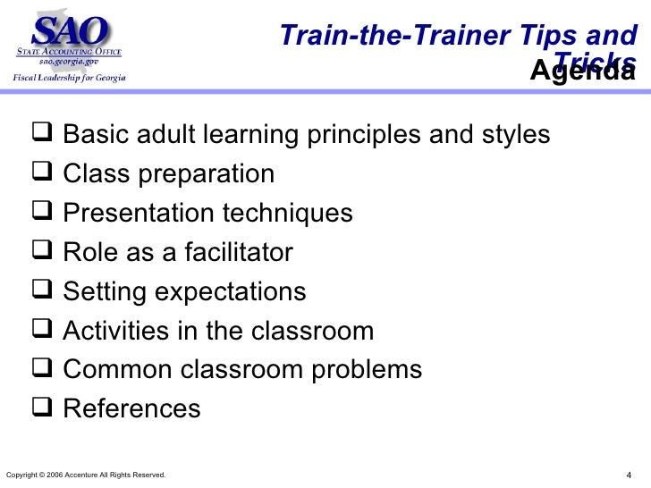 Activities to define adult learning styles