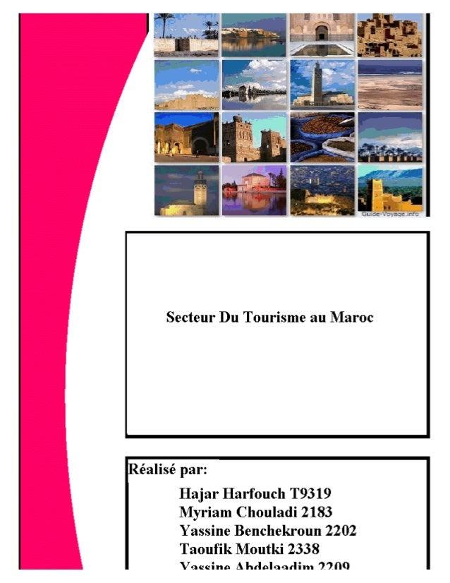 Secteur du tourisme