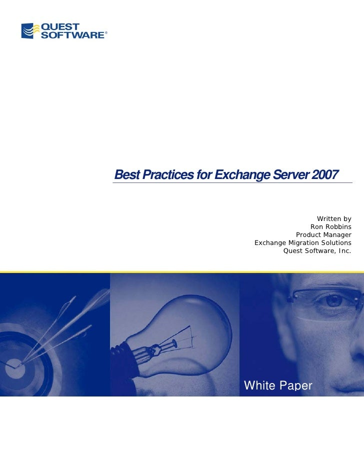 Quest_Software_Best_Practices_for_Exchange_2007