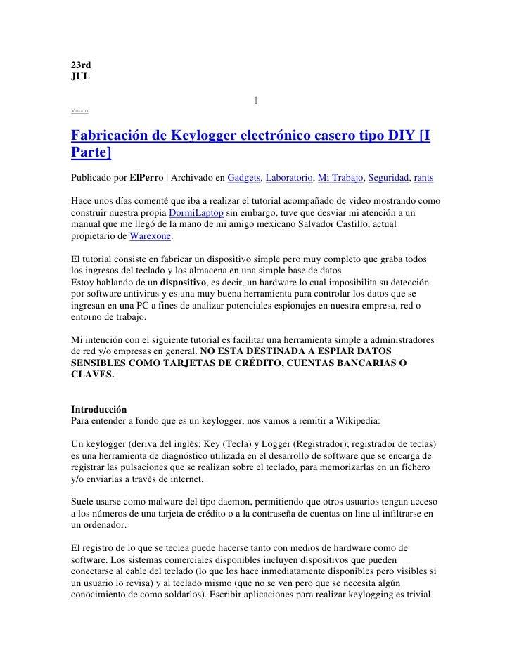 23rd JUL                                                1 Votalo    Fabricación de Keylogger electrónico casero tipo DIY [...