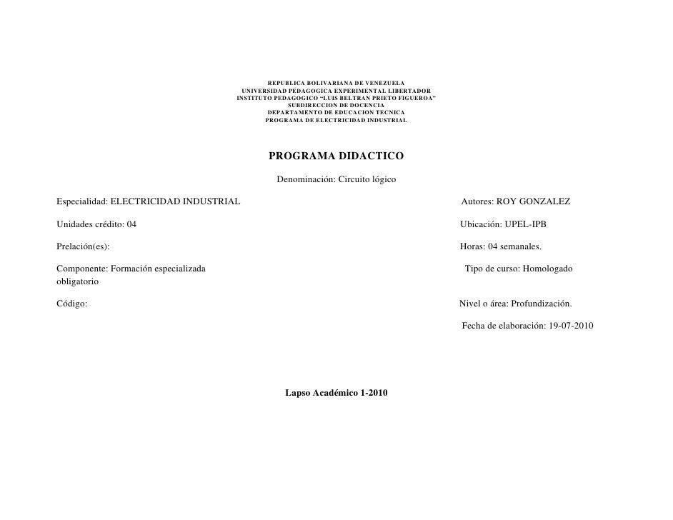 REPUBLICA BOLIVARIANA DE VENEZUELA                                         UNIVERSIDAD PEDAGOGICA EXPERIMENTAL LIBERTADOR ...