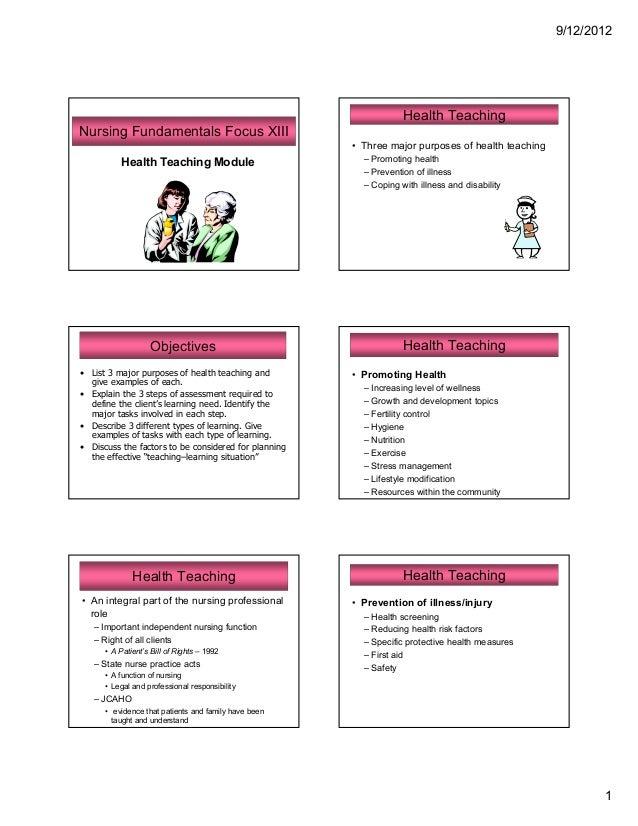 53 a focus 4 health teaching