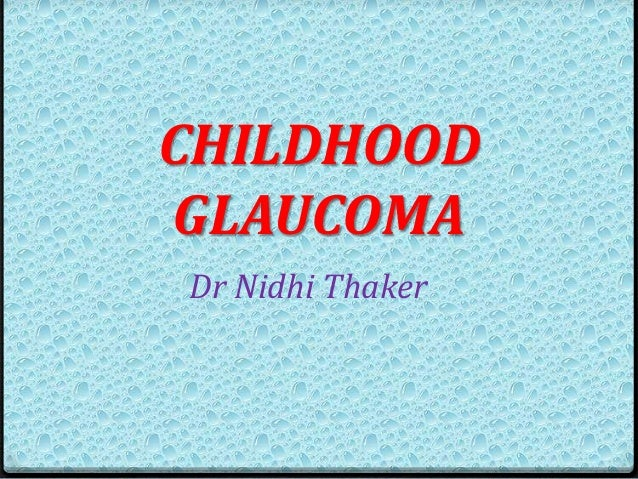congenital glaucoma part 1