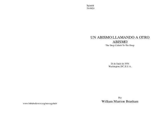 Spanish                                    54-0624                                       UN ABISMO LLAMANDO A OTRO        ...