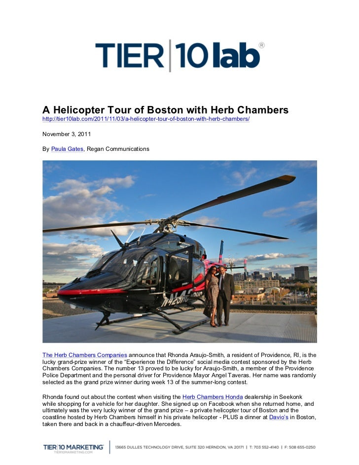 A Helicopter Tour of Boston with Herb Chambers