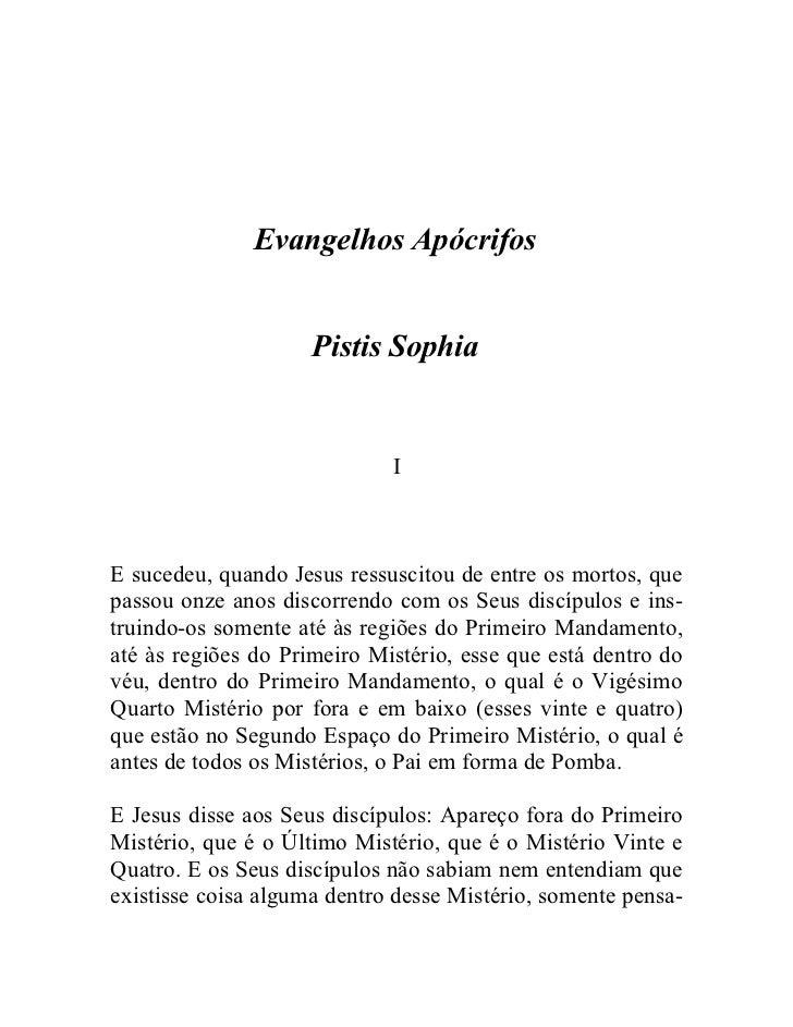 54   pistis sophia - evangelho apócrifo