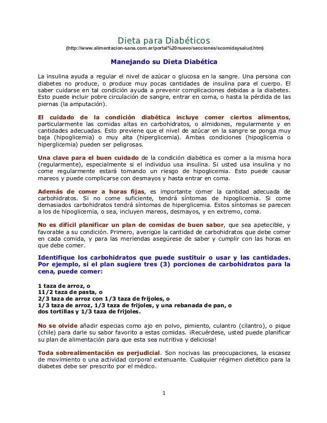 Dieta para Diabéticos         (http://www.alimentacion-sana.com.ar/portal%20nuevo/secciones/scomidaysalud.htm)            ...