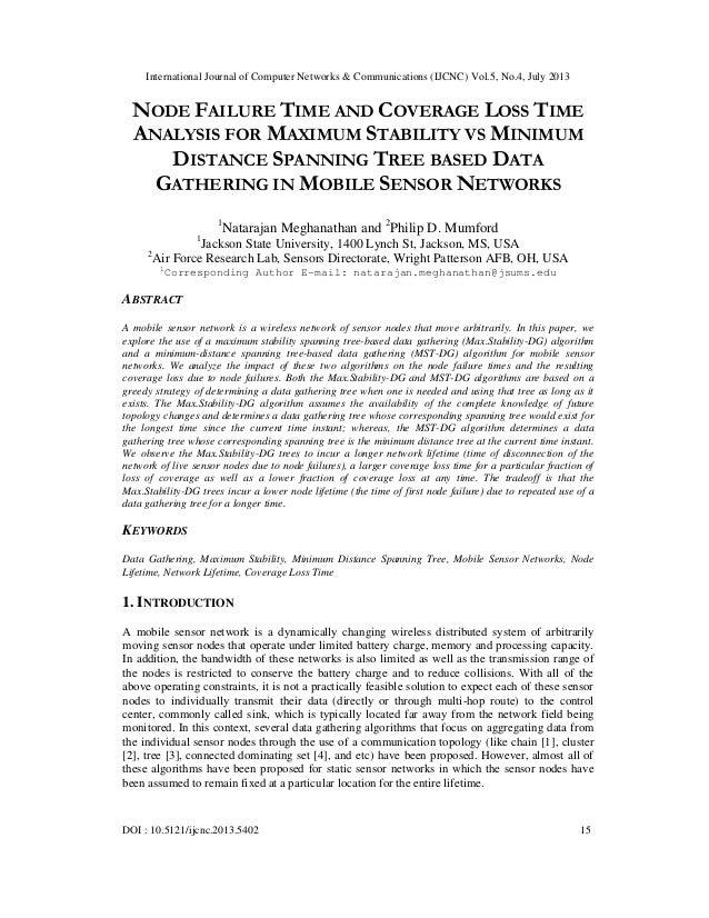 International Journal of Computer Networks & Communications (IJCNC) Vol.5, No.4, July 2013 DOI : 10.5121/ijcnc.2013.5402 1...