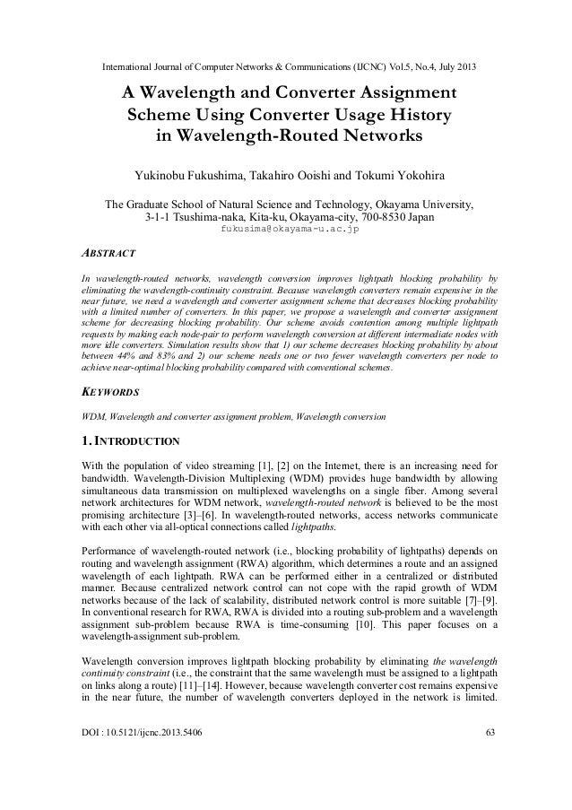 International Journal of Computer Networks & Communications (IJCNC) Vol.5, No.4, July 2013 DOI : 10.5121/ijcnc.2013.5406 6...