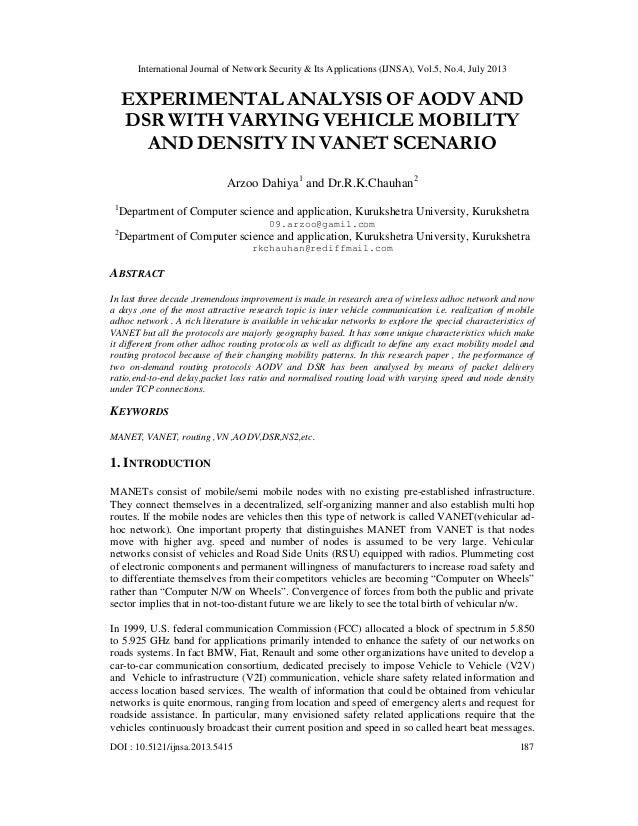 International Journal of Network Security & Its Applications (IJNSA), Vol.5, No.4, July 2013 DOI : 10.5121/ijnsa.2013.5415...