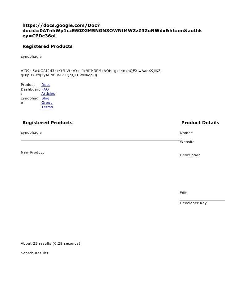 https://docs.google.com/Doc? docid=0ATnhWp1czE60ZGM5NGN3OWNfMWZzZ3ZuNWdx&hl=en&authk ey=CPDc36oL  Registered Products  cyn...