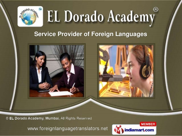 Service Provider of Foreign Languages