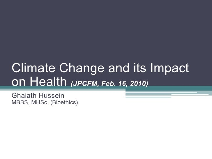 Climate Change and its Impact on Health