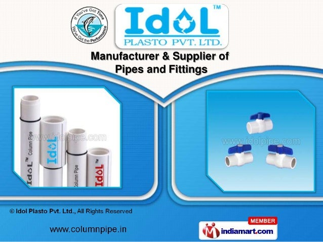 Manufacturer & Supplier of   Pipes and Fittings
