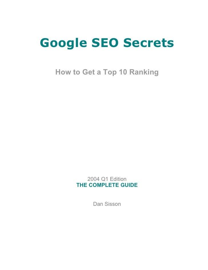SEO - Google.SEO secrets