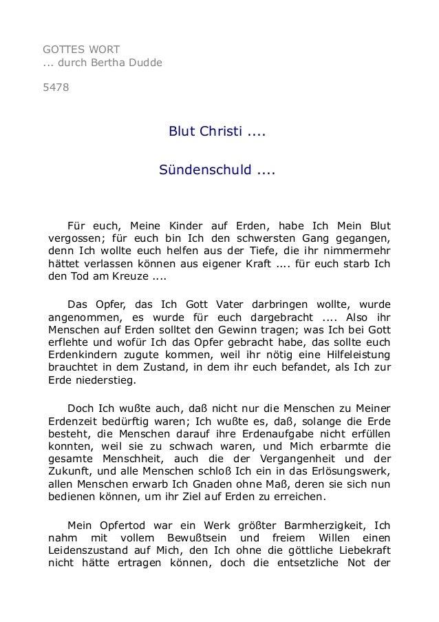 5478   Blut Christi .... Sündenschuld ....