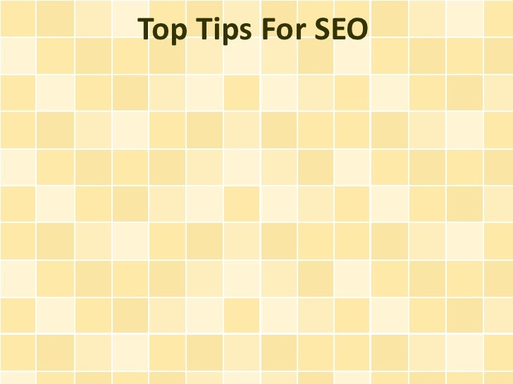 Top Tips For SEO