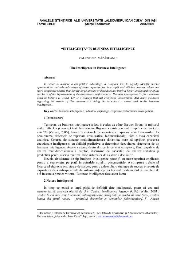 """ANALELE ŞTIINŢIFICE ALE UNIVERSITĂŢII """"ALEXANDRU IOAN CUZA"""" DIN IAŞITomul LII/LIII             Ştiinţe Economice          ..."""