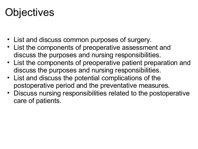 perioperative nursing essay Free essay: introduction tonsillectomy is one of the most common surgical procedures done in otorhinolaryngologic department tonsillectomy is a surgical.