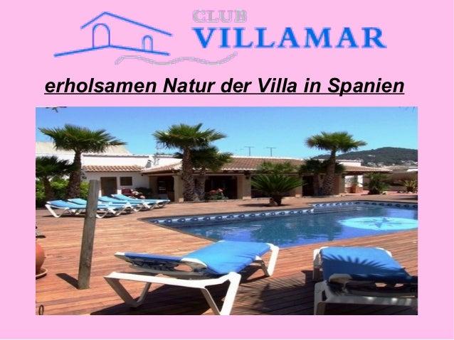 erholsamen Natur der Villa in Spanien