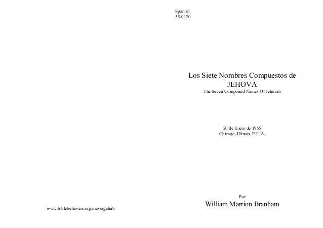 Spanish                                    55-0120                                         Los Siete Nombres Compuestos de...