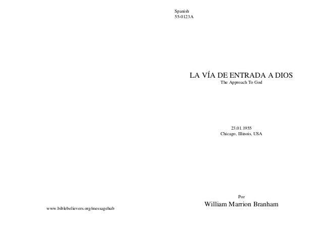 Spanish                                    55-0123A                                          LA VÍA DE ENTRADA A DIOS     ...