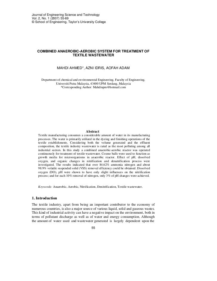 Journal of Engineering Science and TechnologyVol. 2, No. 1 (2007) 55-69© School of Engineering, Taylor's University Colleg...