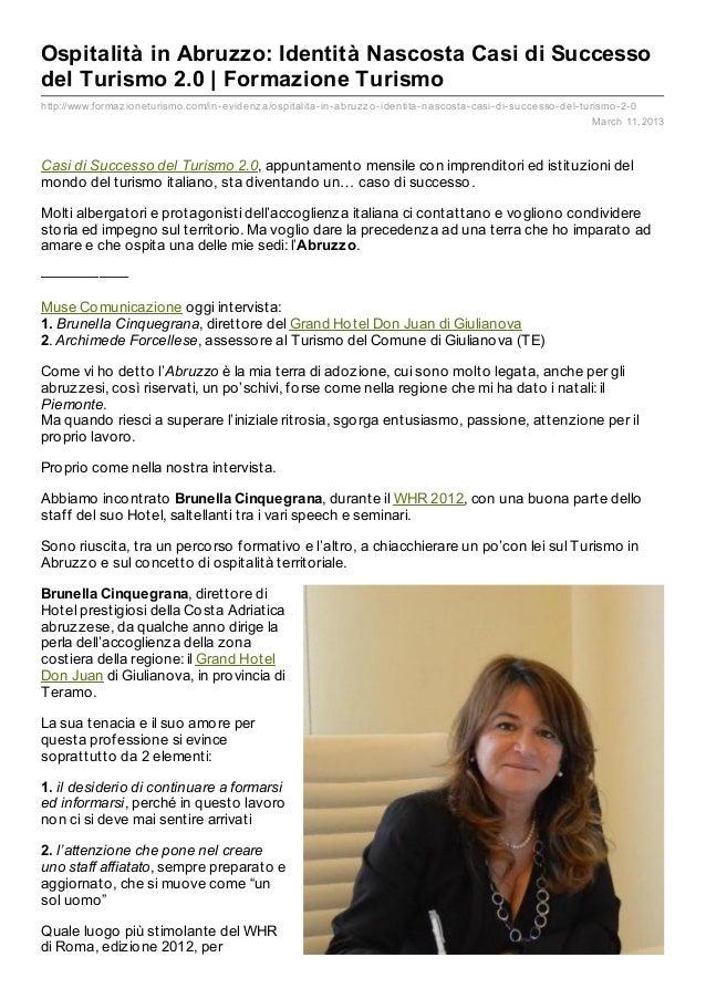 Ospitalità in Abruzzo: Identità Nascosta Casi di Successo del Turismo 2.0