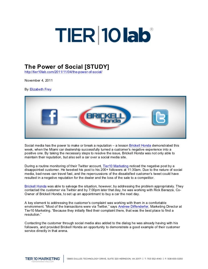 The Power of Social [STUDY]