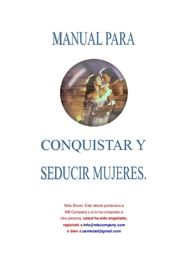 manual para seducir mujeres