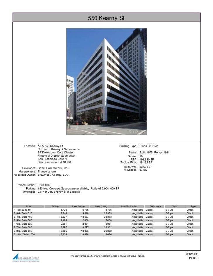 550 Kearny St           Location: AKA 540 Kearny St                                                            Building Ty...