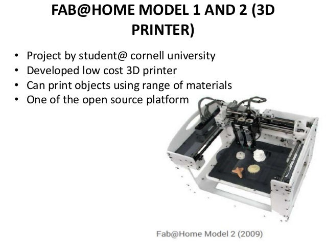 Fab Home Model 2 Kit Fab@home Model 1 And 2 3d