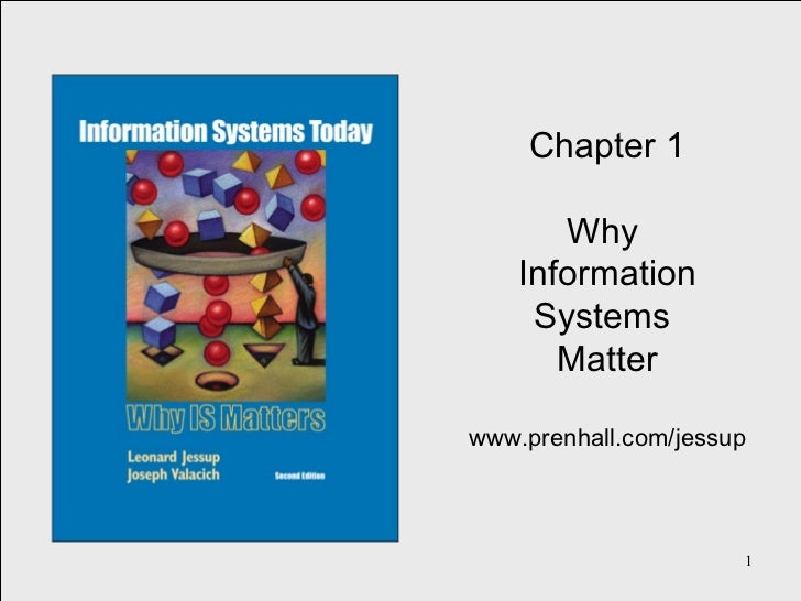 Chapter 1 Why  Information Systems  Matter www.prenhall.com/jessup