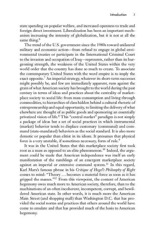 Americanization + globalization + essay