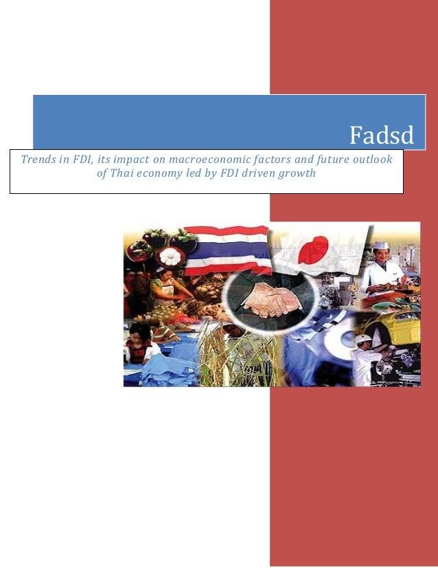 FDI Analysis on a Country's Economy: Thailand