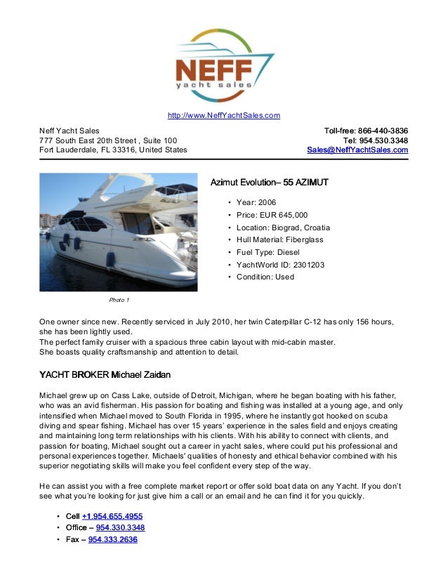 55' 2006 azimut evolution yacht for sale   neff yacht sales