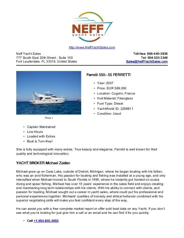 55' 2007 ferretti 550 yacht for sale   neff yacht sales