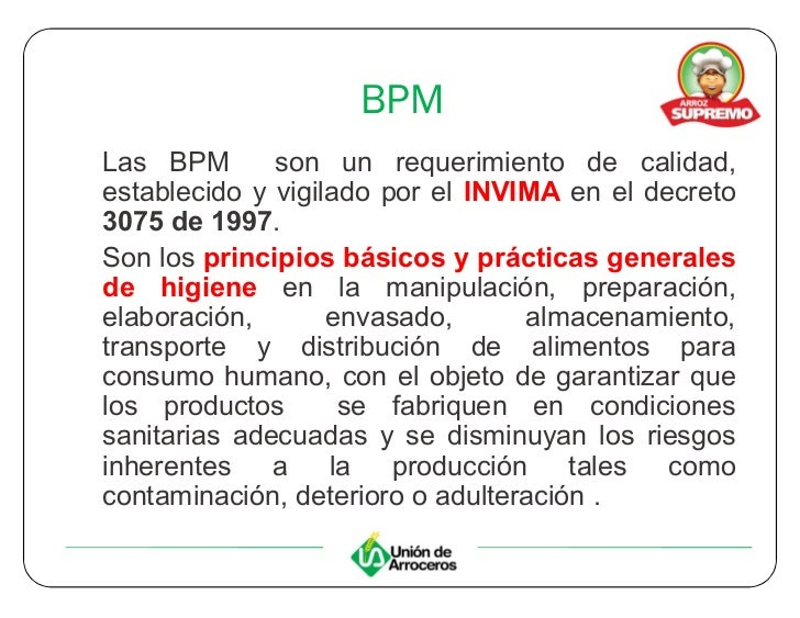55398797 buenas practicas de manufactura for Manual de buenas practicas de higiene y manipulacion de alimentos