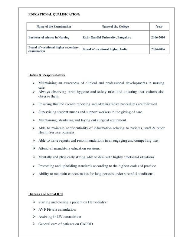 bunch ideas of hemodialysis nurse sample resume for summary sample ...
