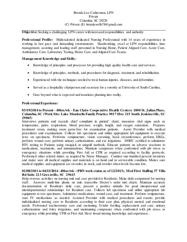 Lpn Resume Template. 3+ Examples Of Teacher Resumes | Lpn Resume ...