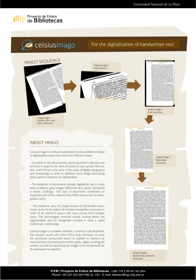Celsius Imago: For the digitalization of handwritten text