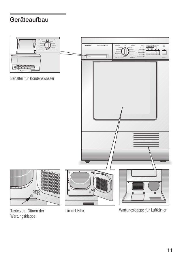 beschreibung f r kondensationstrockner siemens wtxl 2400. Black Bedroom Furniture Sets. Home Design Ideas