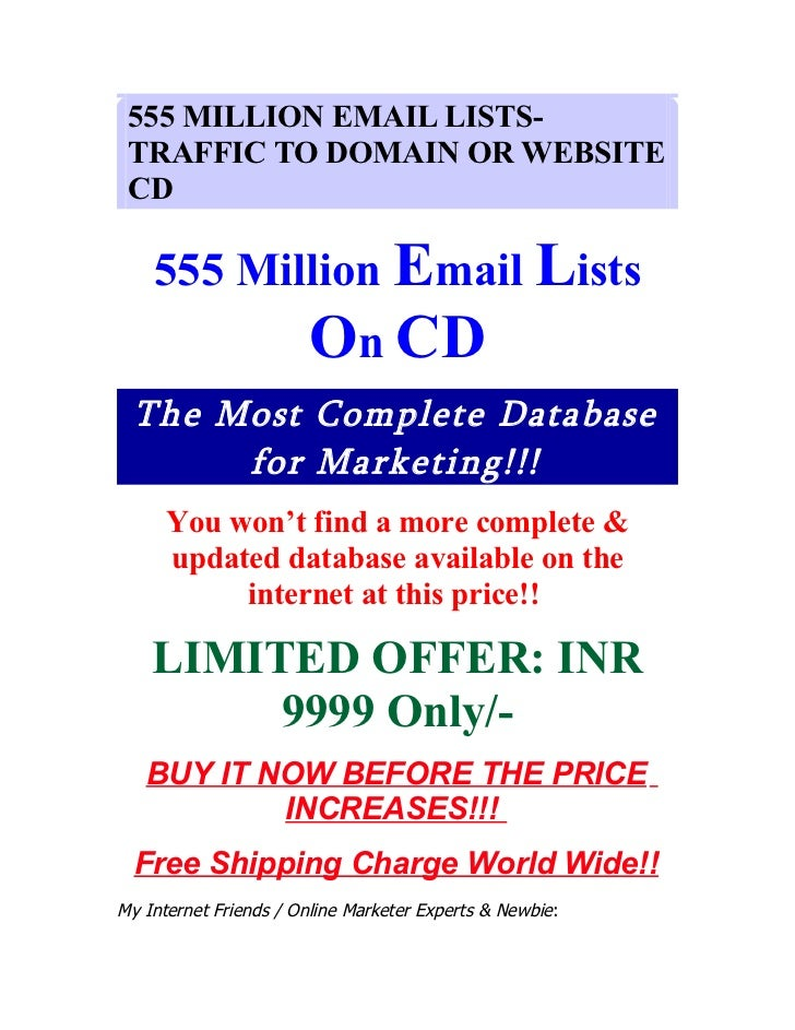 555 Million Email Lists