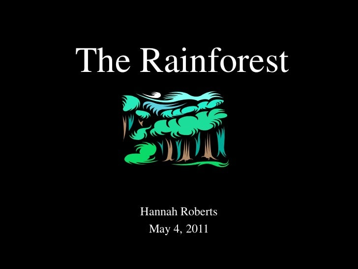 The Rainforest<br />Hannah Roberts<br />May 4, 2011<br />