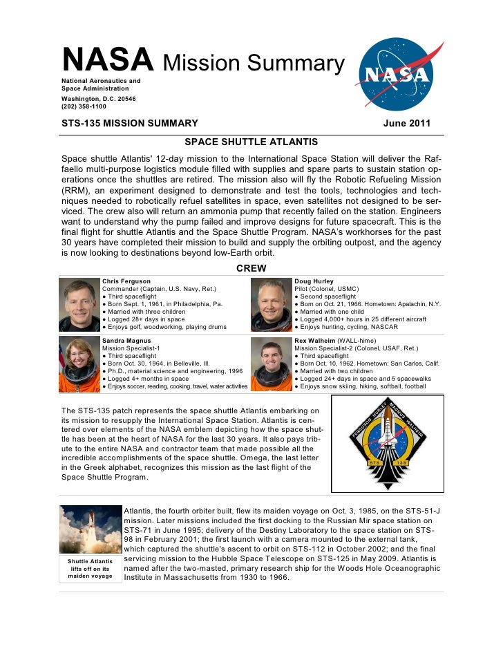 STS-135 Mission Summary - Space Shuttle Atlantis