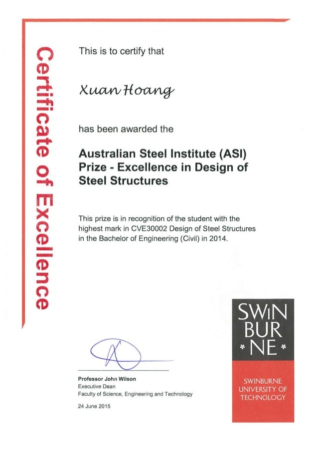 Swinburne Prize 2014