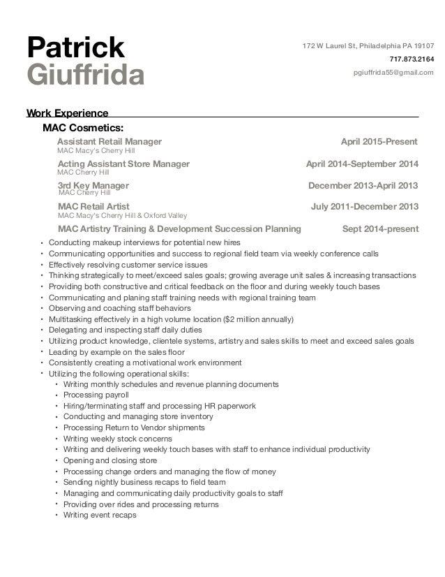patrick giuffrida resume