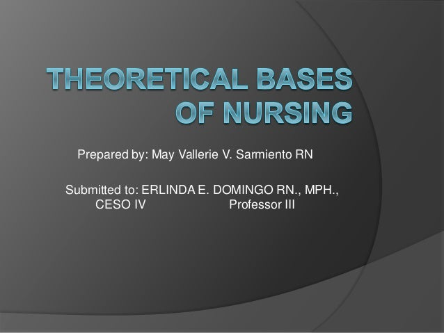 "introduction to conceptual bases nursing Models for nursing practice, theory develop- ment for nursing, and theoretical concepts or constructs i thought nurses used the nursing process as a systematic method of providing care to patients could you explain this to me"" my friend is not the only one who doesn't understand conceptual models and theoretical bases."