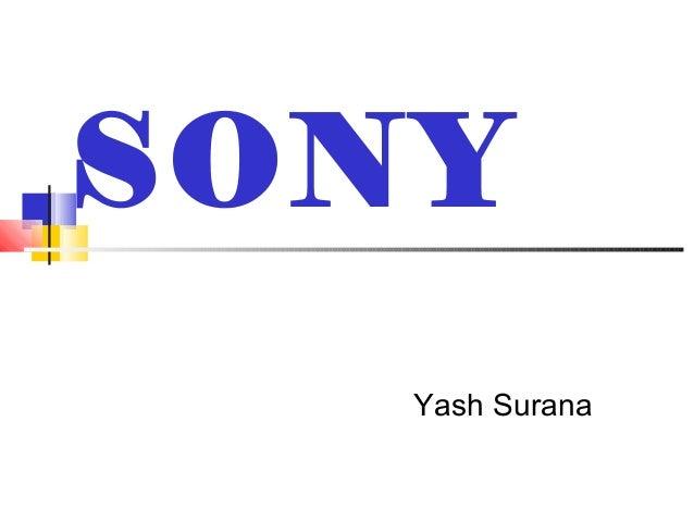 SONY Yash Surana